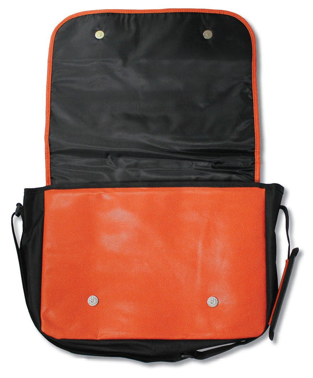 basketball material messenger bag