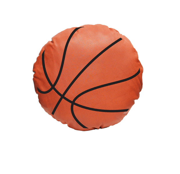 basketball throw pillow made from actual ball leather