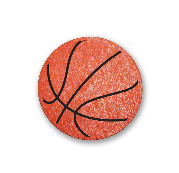 basketball leather mouse pad