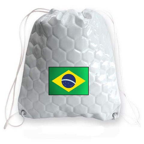 Brazil National Pride Soccer Drawstring Bag