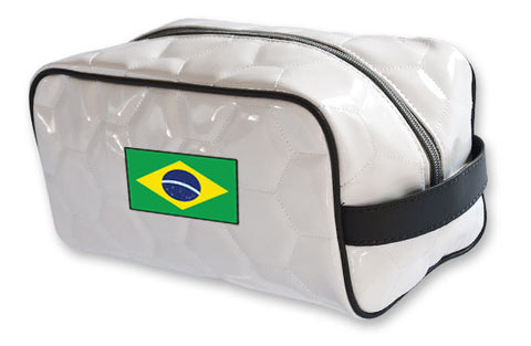 Brazil National Pride Soccer Toiletry Bag