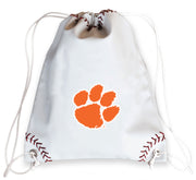 Clemson Tigers Baseball Drawstring Bag