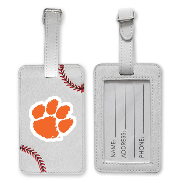 Clemson Tigers Baseball Luggage Tag