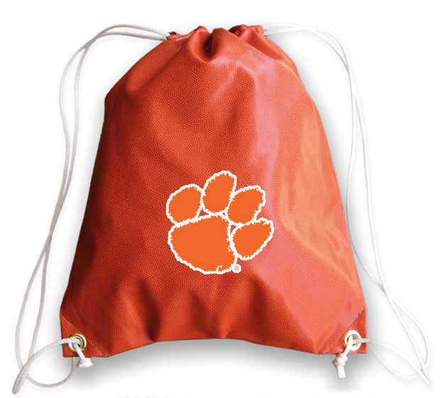 Clemson Tigers Basketball Drawstring Bag
