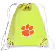 Clemson Tigers Softball Drawstring Bag