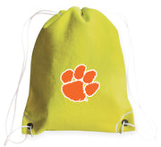 Clemson Tigers Tennis Drawstring Bag