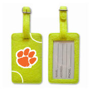 Clemson Tigers Tennis Luggage Tag