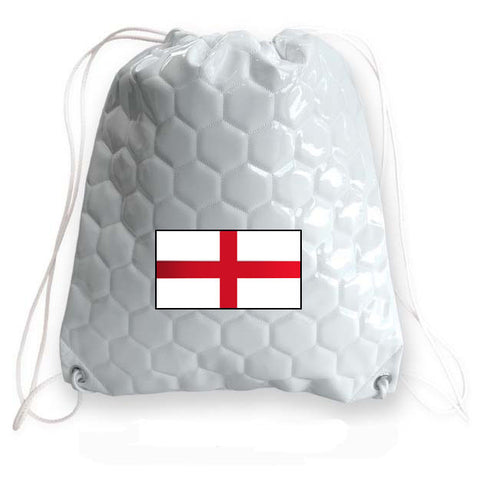 England National Pride Soccer Drawstring Bag