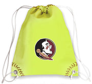 Florida State Seminoles Softball Drawstring Bag