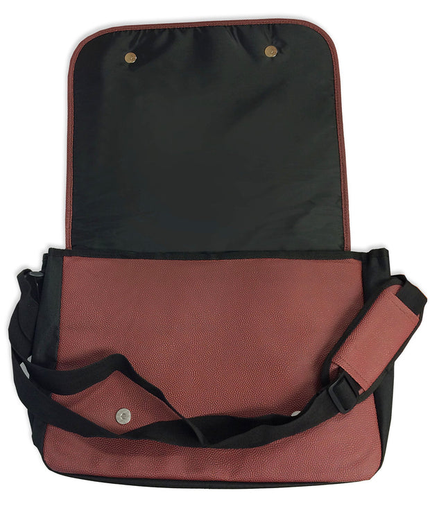 football messenger bag with strap