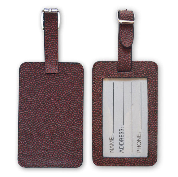 Football Leather Luggage Tags