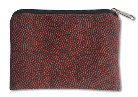 football leather coin purse