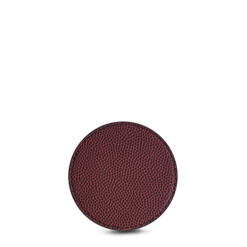 brown football leather coasters