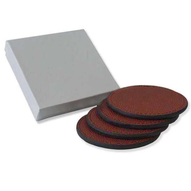 football leather coasters gift set