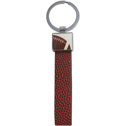 keychain made from football material