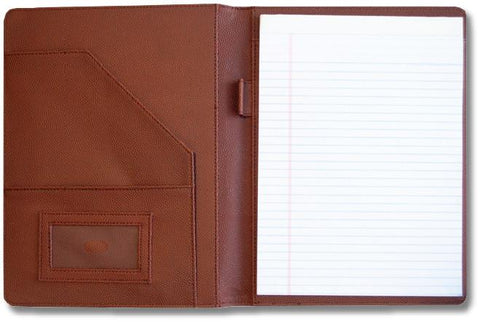 real football leather portfolio coach gift with notepad