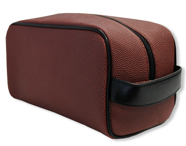 toiletry bag that looks like a football