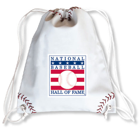 Hall of Fame Baseball Drawstring Bag