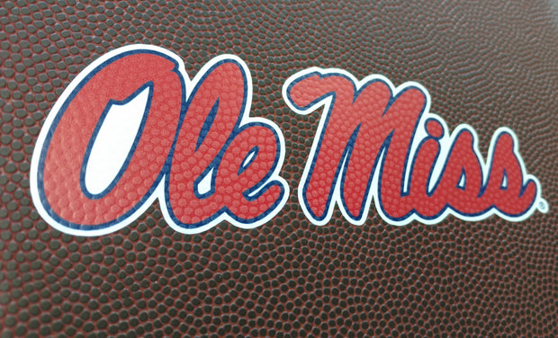 Ole Miss Rebels Football Luggage Tag