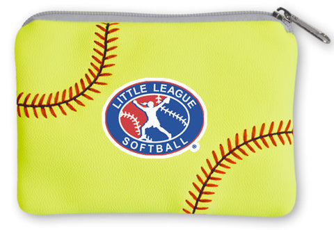 Little League Softball Coin Purse