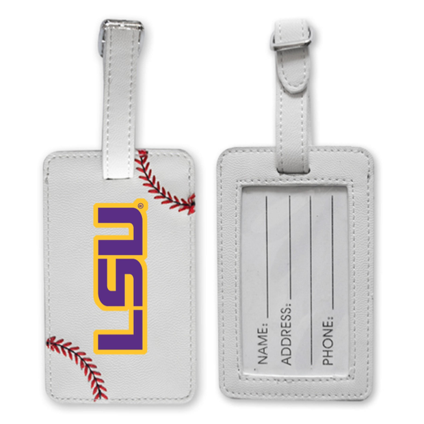 LSU Tigers Baseball Luggage Tag