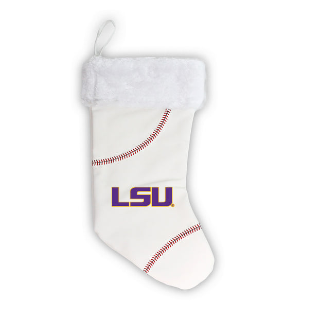 "LSU Tigers 18"" Baseball Christmas Stocking"
