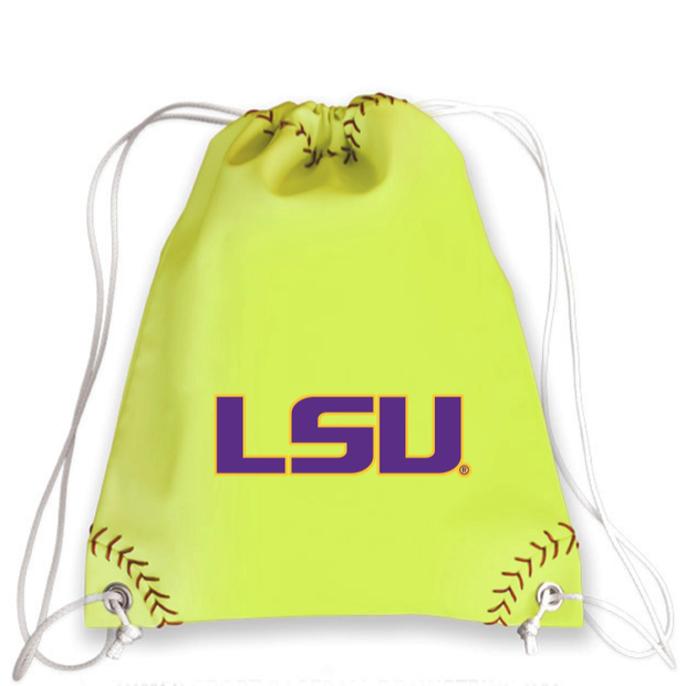 LSU Tigers Softball Drawstring Bag