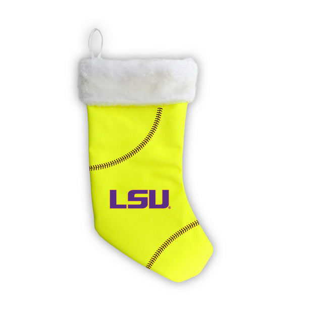 "LSU Tigers 18"" Softball Christmas Stocking"