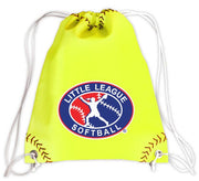 Little League Softball Drawstring Bag