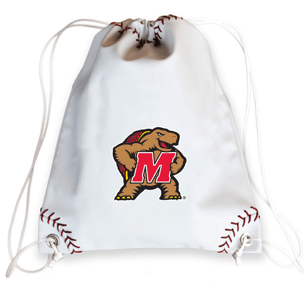 Maryland Terrapins Baseball Drawstring Bag