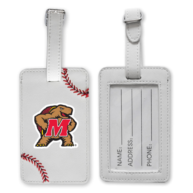 Maryland Terrapins Baseball Luggage Tag