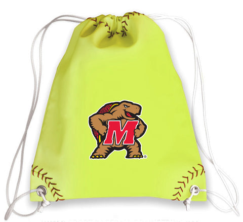 Maryland Terrapins Softball Drawstring Bag