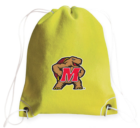 Maryland Terrapins Tennis Drawstring Bag