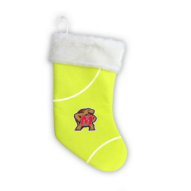 "Maryland Terrapins 18"" Tennis Christmas Stocking"