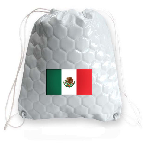 Mexico National Pride Soccer Drawstring Bag