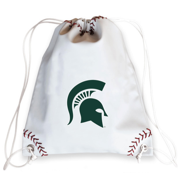 Michigan State Spartans Baseball Drawstring Bag