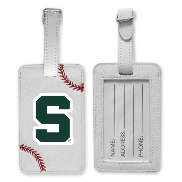 Michigan State Spartans Baseball Luggage Tag