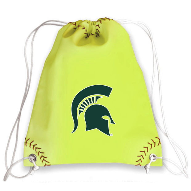 Michigan State Spartans Softball Drawstring Bag