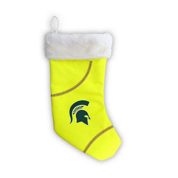 "Michigan State Spartans 18"" Softball Christmas Stocking"