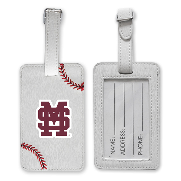 Mississippi State Bulldogs Baseball Luggage Tag