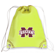 Mississippi State Bulldogs Softball Drawstring Bag