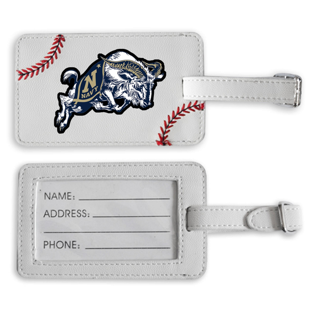 Navy Midshipmen Baseball Luggage Tag