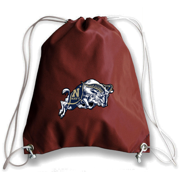 Navy Midshipmen Football Drawstring Bag