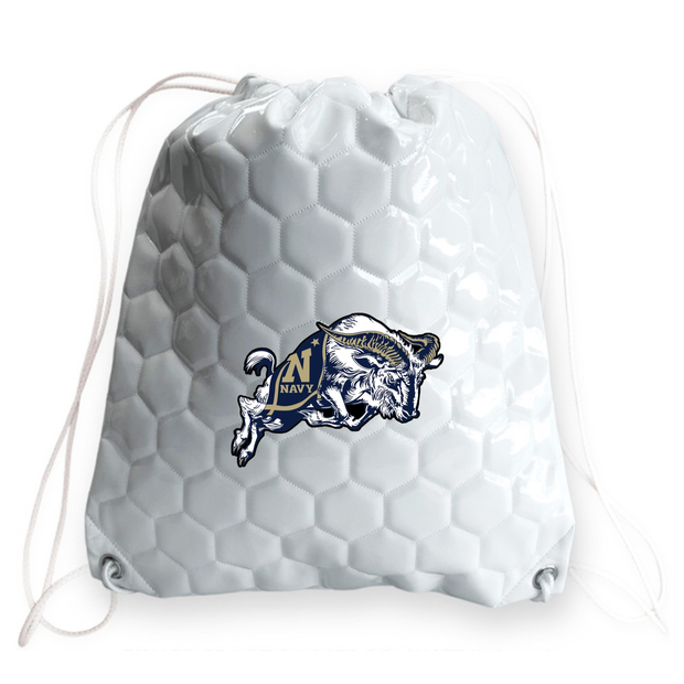 Navy Midshipmen Soccer Drawstring Bag
