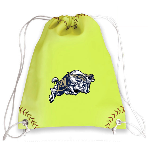 Navy Midshipmen Softball Drawstring Bag