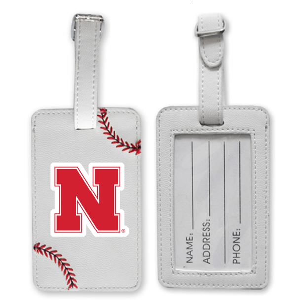 Nebraska Cornhuskers Baseball Luggage Tag