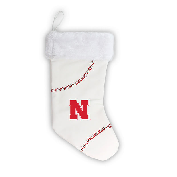 "Nebraska Cornhuskers 18"" Baseball Christmas Stocking"