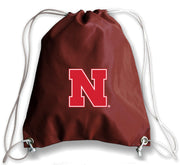 Nebraska Cornhuskers Football Drawstring Bag