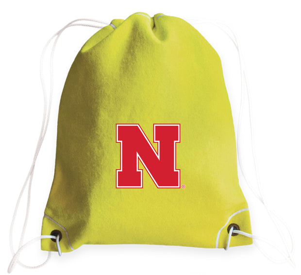Nebraska Cornhuskers Tennis Drawstring Bag