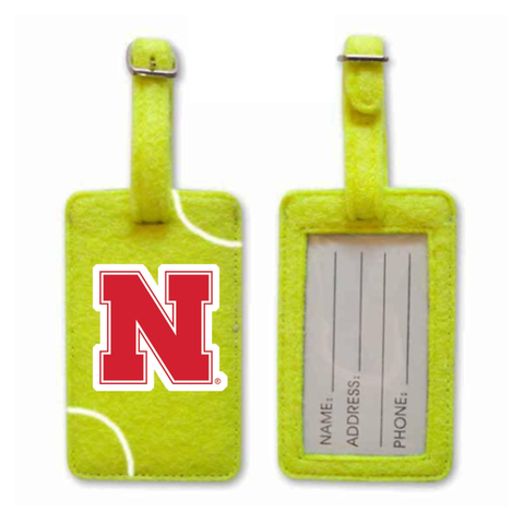 Nebraska Cornhuskers Tennis Luggage Tag